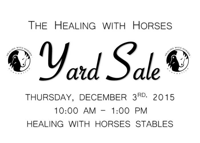 Yard Sale Dec. 3rd 2015
