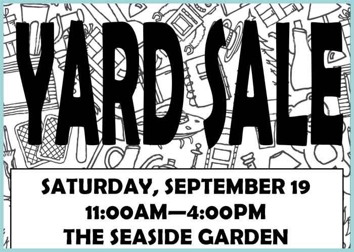 Yardsale Sept. 19th